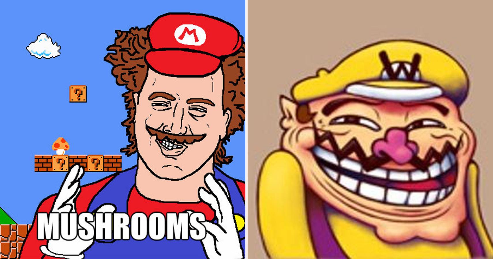 mario memes super childhood ruin completely